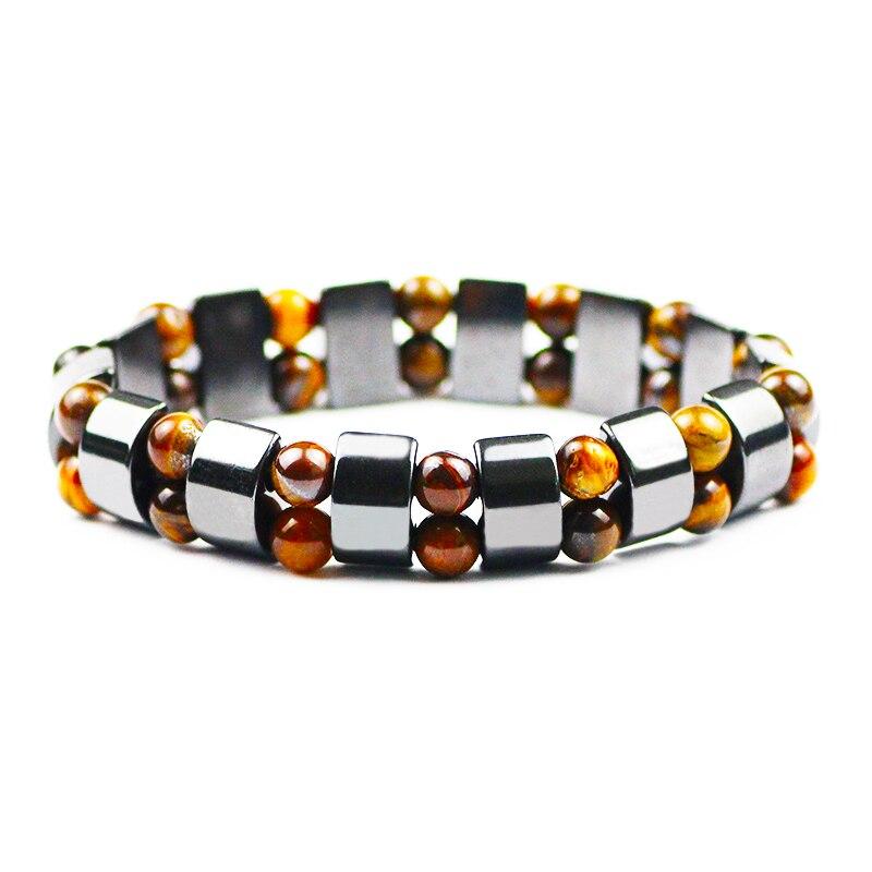 Tiger's Eye Hematite Charm Bracelets Men Tiger Eye & Hematite Bracelets