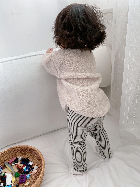 compridas roupas do bebê menino algodão listrado