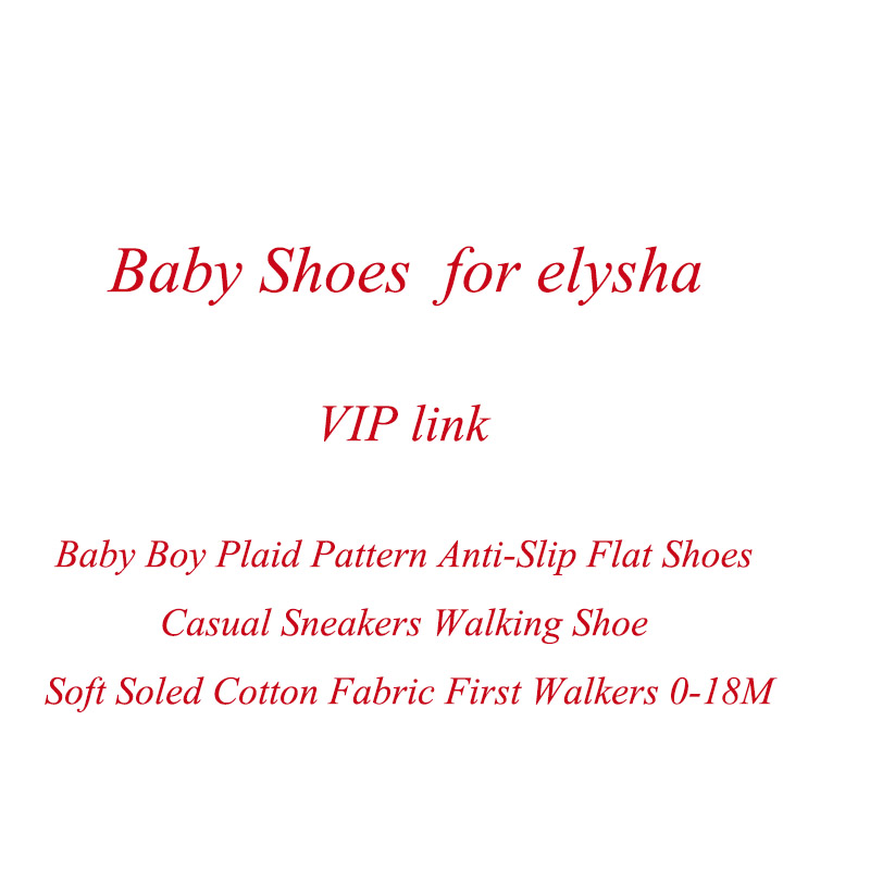 VIP Link Baby Boy Plaid  Anti-Slip Flat Shoes Casual Sneakers Walking Shoe Soft Soled Cotton Fabric First Walkers 0-18M