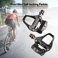 HiMISS 도로 자전거 자동 잠금 페달 경량 알루미늄 합금 CR-MO 사이클링 페달 자전거 페달로드 바이크