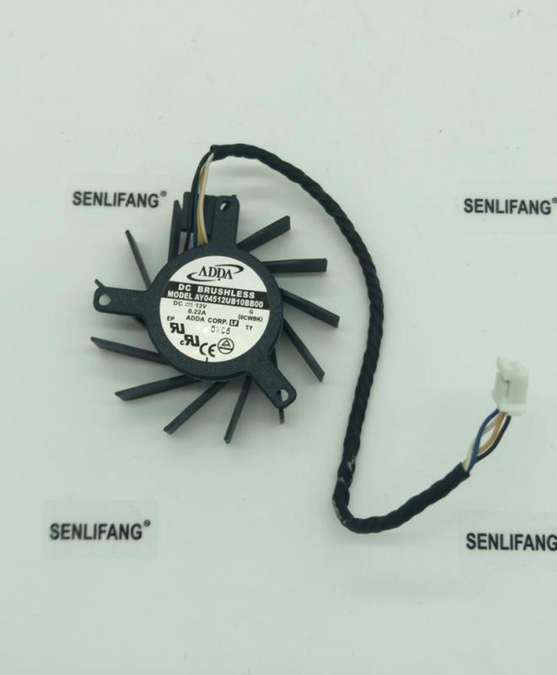 For AY04512UB10BB00 12V 0.22A Hole Distance 3.4-3.4-2.6 Diameter 4.4cm Four-wire Card Fan