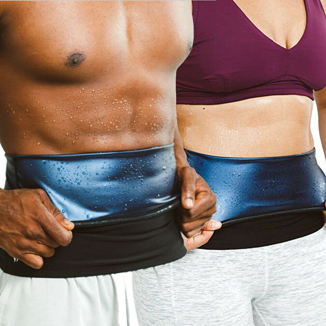 Men sweat waist band Waist Trimmer Belt Weight Loss sweat sauna shaper body shaper Wrap Fat Tummy Stomach Strap for women slim