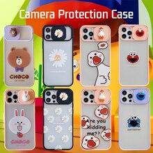 กล้องสำหรับ iPhone 11 12 Pro Max Mini 7 8 Plus XR X XS MAX การ์ตูนน่ารักวรรณกรรม ins ฝาครอบ