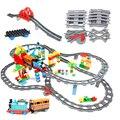Große größe Bausteine Kompatibel Zug Sets DIY Eisenbahn Track Montieren Interaktive Bildungs Bricks Spielzeug für Kinder geschenk