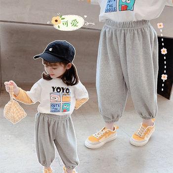 Dziewczęce spodnie sportowe 2021 Spring2-8 lat dziecięce luźne spodnie na co dzień dziecięce bawełniane spodnie dresowe chłopięce spodnie haremowe dziecięce spodnie tanie i dobre opinie Ywstt Damsko-męskie COTTON POLIESTER MATERNITY 4-6y W wieku 0-6m 7-12y 7-12m 12 + y 13-24m 25-36m CN (pochodzenie) Wiosna i jesień