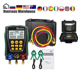 Image 1 - DY517A Refrigerat Digitale Manifold Gauge Meter Kältemittel HVAC Vakuum Doppel Druck Leck Temperatur Tester Kalten Lagerung