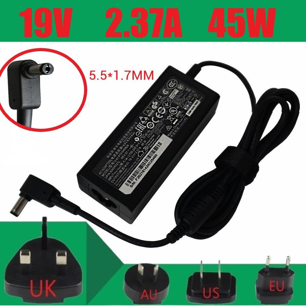 Genuine ADP-45HE B A13-045N2A 19V 2.37A AC Adapter For Acer Aspire ES14 R3 N15W5 R3-131T ES1 512 C4SQ ES1-531 PA-1450-26
