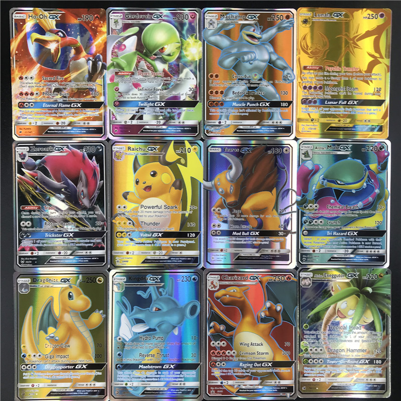 High quality 25/50pcs GX MEGA Shining    Cards Game Battle Carte  Trading Cards Game Children Toy action figure pokemon