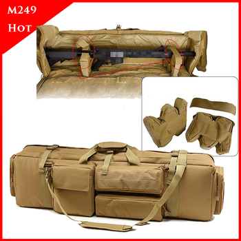 M249 Tactical Backpack Heavy Duty Military Shooting Airsoft Paintball Rifle Bag Gun Case Hunting Bag Rifle Gun Holster 1000d nylon tactical m249 gun bag hunting shooting rifle case gun holster army military airsoft paintball sniper protection bag
