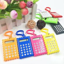 New Arrival Student Mini Plastic 8 Digits Electronic Calculator Candy Color Calculating Office Supplies Gift Super Small