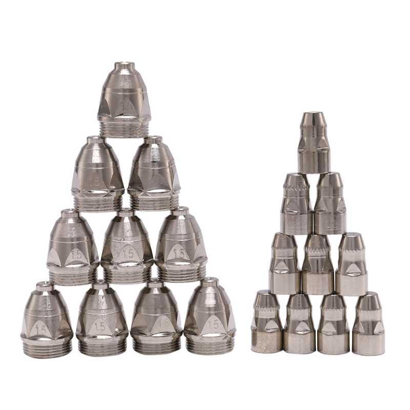 20 piezas P80 antorcha de corte por Plasma consumible corte CNC 80A P80 Plasma antorcha punta electrodo boquilla