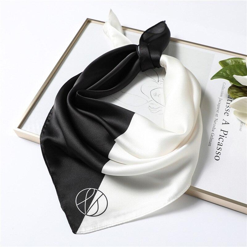 New Silk Scarf Square For Women 70x70cm Small Neck Scarves Lady Shawl Fashion Print Hijab Brand Designer High Quality Scarfs