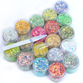 10g Gold Silver Chameleon Laser Flash Nail Powder Mixed Color Glitter Powder Chrome Paint Decorative Nail Art Accessories XC160