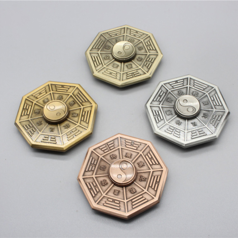 Fidget Spinner Finger-Gyro Anti-Stress Metal Toy Eight Adult Gift Taiji Diagrams