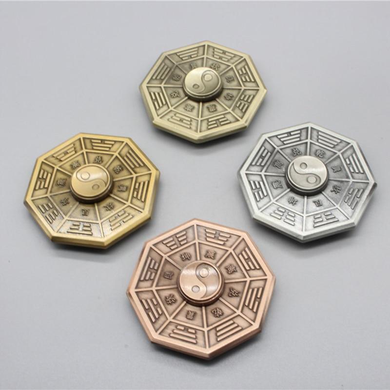 Fidget Spinner Finger-Gyro Anti-Stress Metal Toy Eight Adult Gift Taiji Diagrams img1