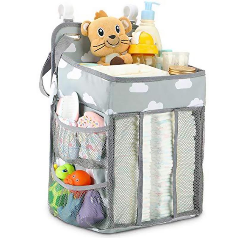 Portable Folding Baby Diaper Organizer Delicate Exquisite Soft Comfortable Feel Holder Nursing Nappy Storage Hanging Bag