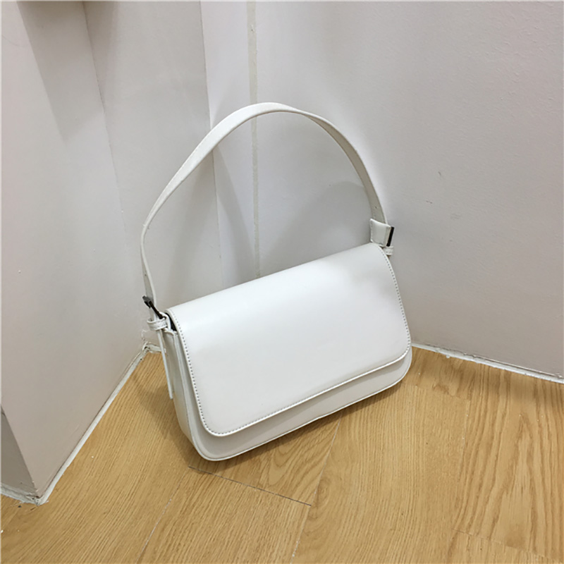 NEW Fashion Handbags Woman Trendy Green White PU Leather Shoulder Bag Party Evening Clutch Ins Hot Female Small Square Bag