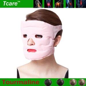 Image 2 - Tcare 1pcs Beauty Face lift Mask Tourmaline Magnetic Therapy Massage Face Mask Moisturizing Whitening Face Masks Health Care