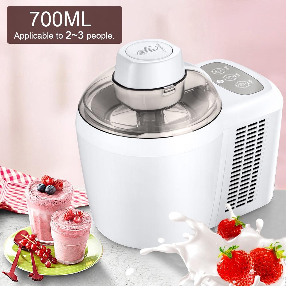 700ml Household Full Automatic Soft Hard Ice Cream Maker Machine Intelligent Sorbet Fruit Yogurt Ice Maker Dessert Maker