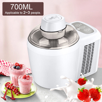 700ml Household Full Automatic Soft Hard Ice Cream Maker Machine Intelligent Sorbet Fruit Yogurt Ice Maker Dessert Maker