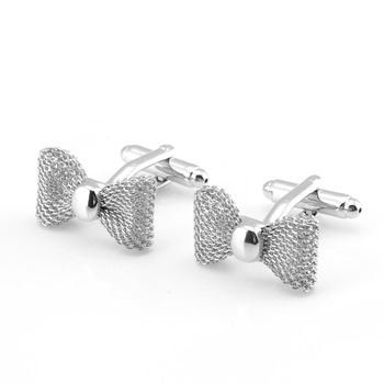 French Cufflinks Fashion Business Banquet Wedding Men Women's Shirts Cuffs Accessories Bow-Knot Shape Cuff Links