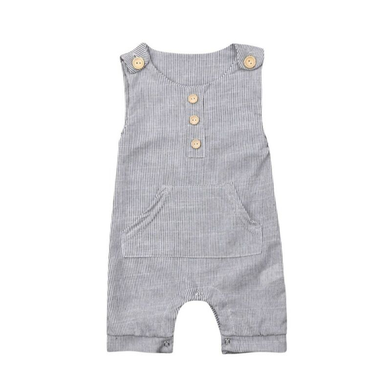NEW 2020 Newborn Baby Boy Striped Romper Bodysuit Jumpsuit Sleeveless Clothes Outfits