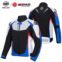 SCOYCO Chaqueta reflectante transpirable para motocicleta, protector de competición, Verano