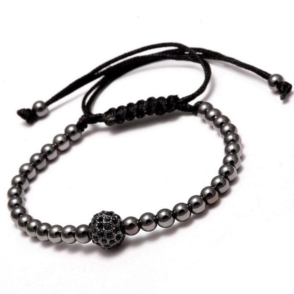 Copper Bead Woven Bracelet Hiphop Rock Street Culture Copper Alloy Bead Woven Chain Bracelet Men Fashion Trendy Jewelry Gift 4