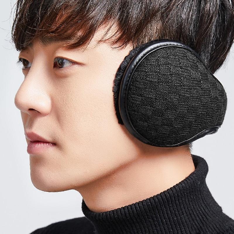 1Pcs Classic Knit Earmuff Winter Accessories Ear Muffs Warmer Kind Cover Men Teen Boys Outdoor Earmuffs