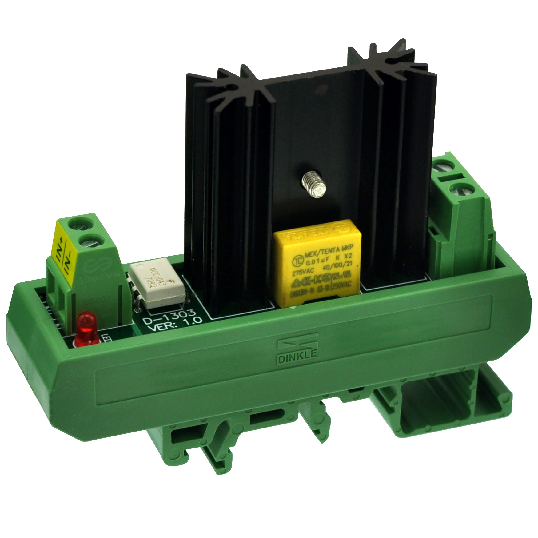 CZH-LABS DIN Rail Mount 8 Amp Solid State Relay SSR Module, In 4~32VDC, Out 100~240VAC. (1 Channel)