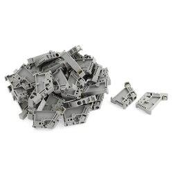 50 sztuk 35mm blok zacisków na szynie DIN zapięcie zaciski montażowe w Łączówki od Majsterkowanie na