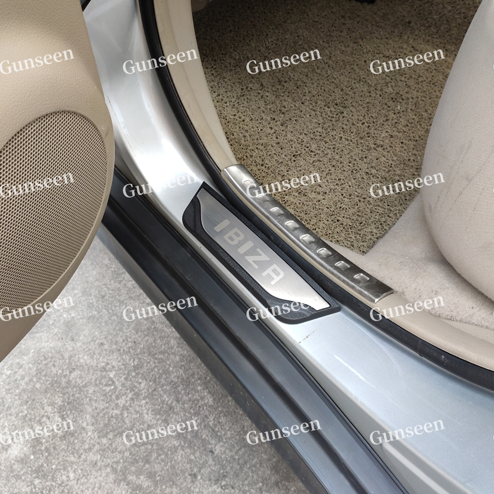 Ruiya Tarraco//Ateca SUV Stainless Steel Door Sill Trims Car Sill Bumper Protector Protector Strips Car Door Sill Set of 4