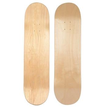 Skateboard in acero bianco doppio skateboard concavo skateboard naturale skateboard skateboard in legno acero Longboard a 9 strati