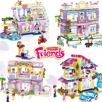 Girls Friends Series Set Building Blocks Creative Assembling God Friends Building Blocks Educational Opp Bag Gifts Toys Gift image