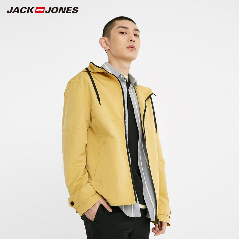JackJones Men's Multi-colored Pure Color Short Hooded Jacket Basic| 219121512