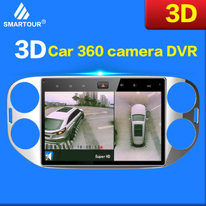 Image 5 - Smartour Newest Car 3D Surround View Monitoring System 360 Degree Driving Bird View Panorama Camera 4CH DVR Recorder with sensor