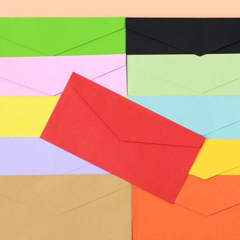 Western No. 5/DL Color Retro Creative Business Envelope Kraftpaper Simple Blank Invitation Envelope Customizable