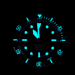 Image 5 - Cronos Hruodland Brons Duiken Mannen Horloge Mechanische Rubber Band Keramische Top Ring Saffier Kristal Gratis Lederen Band BGW9 Blauw