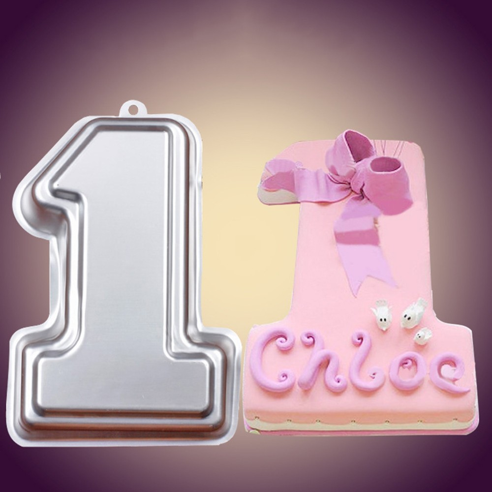 Metal Stainless Steel Digital Big Cake Molds Number Cake Cutter Mold For Making Wedding Shows Baby Birthday Cakes Decor