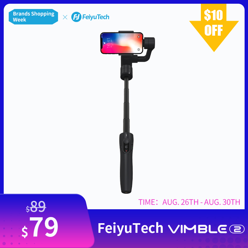 FeiyuTech Feiyu Vimble 2 Handheld Smartphone Gimbal 3 Axis Video Stabilizer with 183mm Pole for iPhone X 8 XIAOMI Samsung s8-in Handheld Gimbals from Consumer Electronics