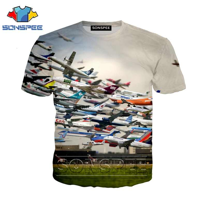 Anime 3d print t shirt streetwear logo Men Women Plane set sail aircraft fashion t-shirt Harajuku kids shirts homme tshirt A102