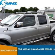 Car window rain protector For NISSAN NAVARA D22 2002 2003 2004 2005 2006 2007 2008 2009 2010 2011 2012 2013 car accessories SUNZ