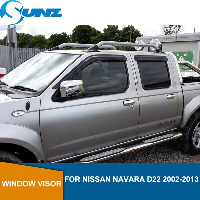 Voiture fenêtre pluie protecteur Pour NISSAN NAVARA D22 2002 2003 2004 2005 2006 2007 2008 2009 2010 2011 2012 2013 voiture accessoires SUNZ