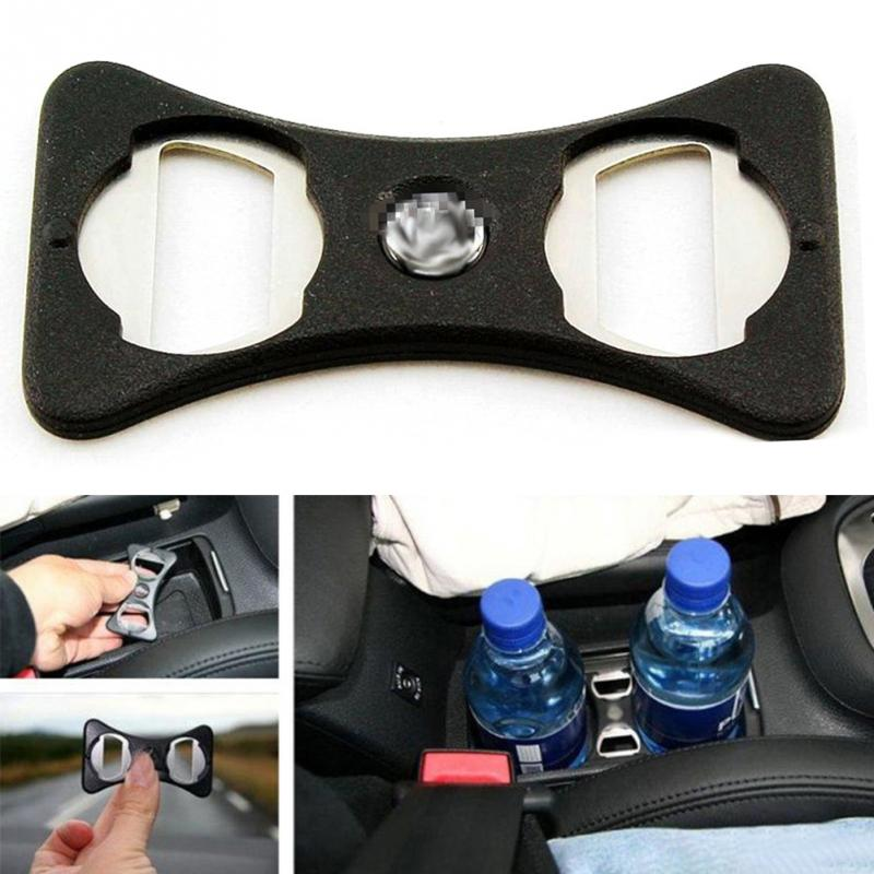 Lightweight Bottle Opener Useful Durable Car Use For Golf/Jetta/MK5/MK6/GTi ABS Cup Holder Divider Stainless Steel Safety Buckle