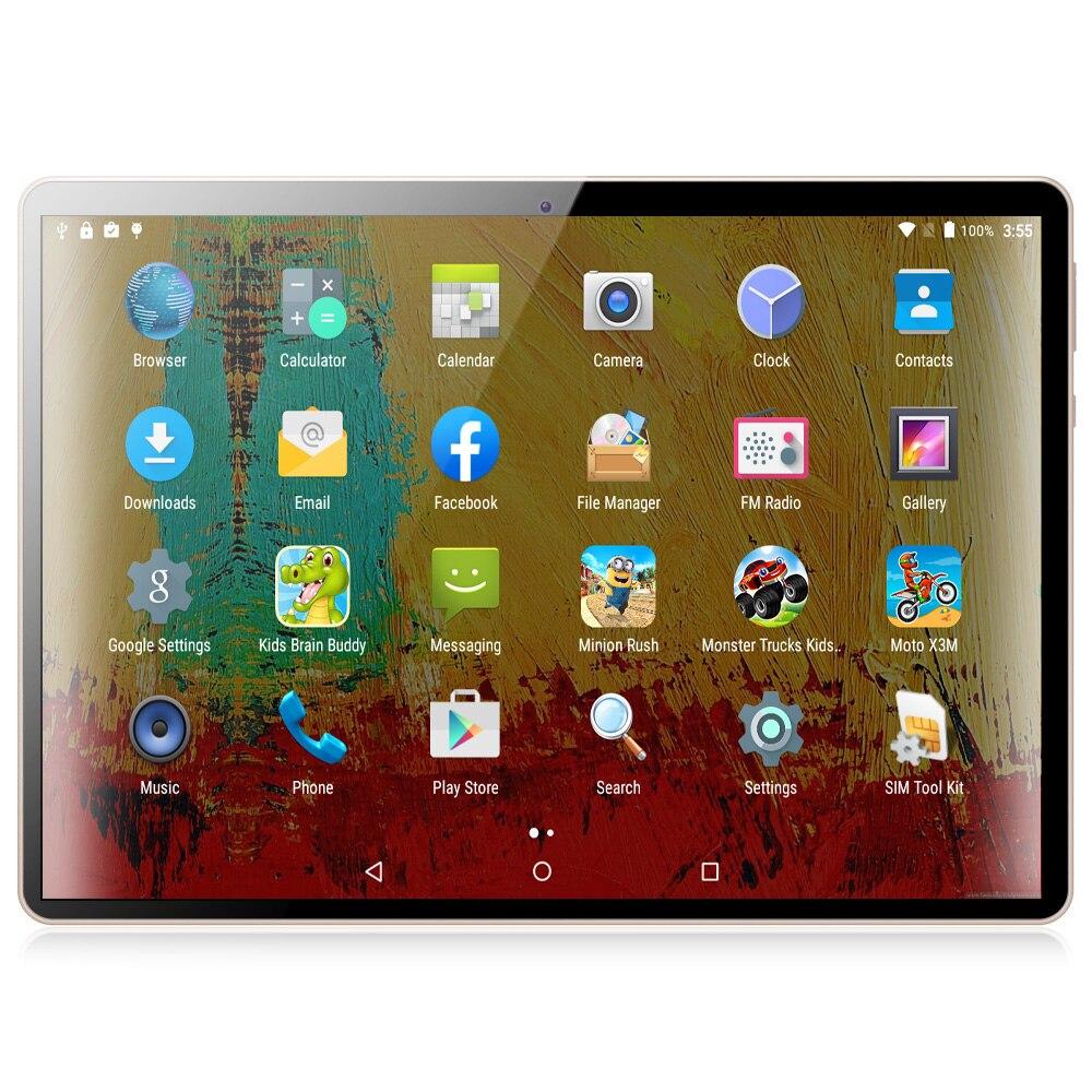 10 pouces Android tablette Android 6.0 2GB RAM + 32GB ROM téléphone tablette Pc téléphone portable appel Sim carte tablettes Pc IPS WiFi GPS BT