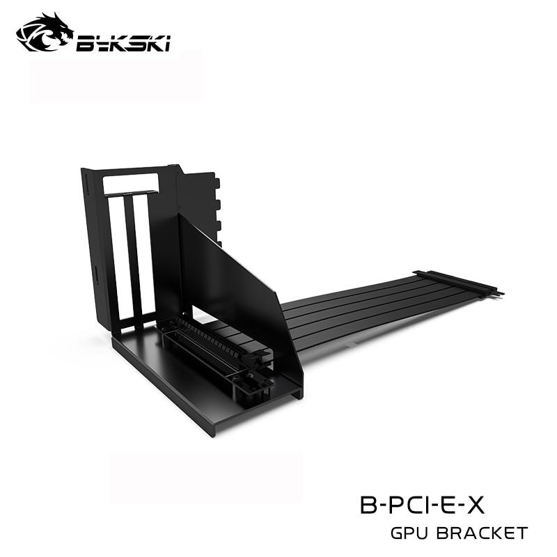 Bykski Graphics Card Bracket ,GPU PCIe3.0x16 Riser Cable,High Speed,7 PCI-E Slot ,90 Degree Reverse Vertically B-VCEC/PCI-E-X