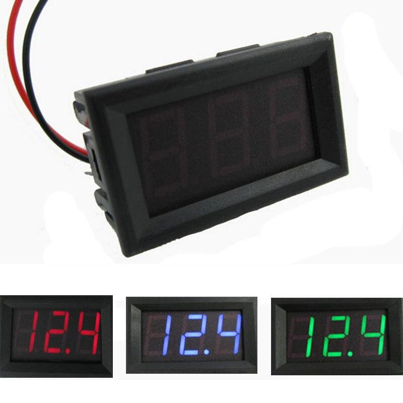 1pc DC4.5V-30.0V Digital Voltage Meters Panel Volt Current Voltage Detector Battery Tester 0.56
