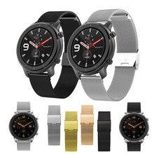 Metall Strap Für Amazfit GTR 47mm 42mm Smart Armband 20 22mm Handgelenk Gurt Für Xiaomi Huami Amazfit BIP GTS Tempo Stratos Armband
