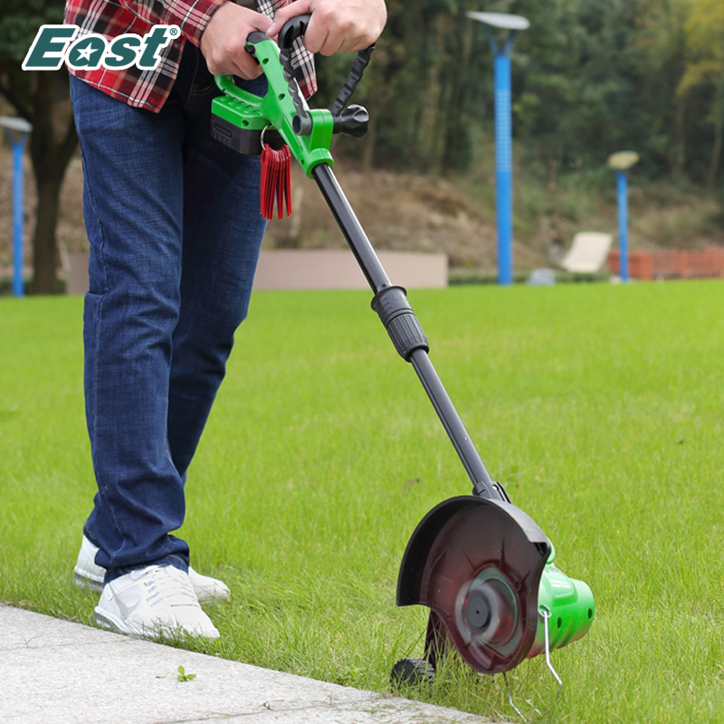 East Cordless Grass Trimmer Lawn Mower 18V Rechargeable Battery Garden tools Portable Telescopic Handle Mower Pruning ET1101