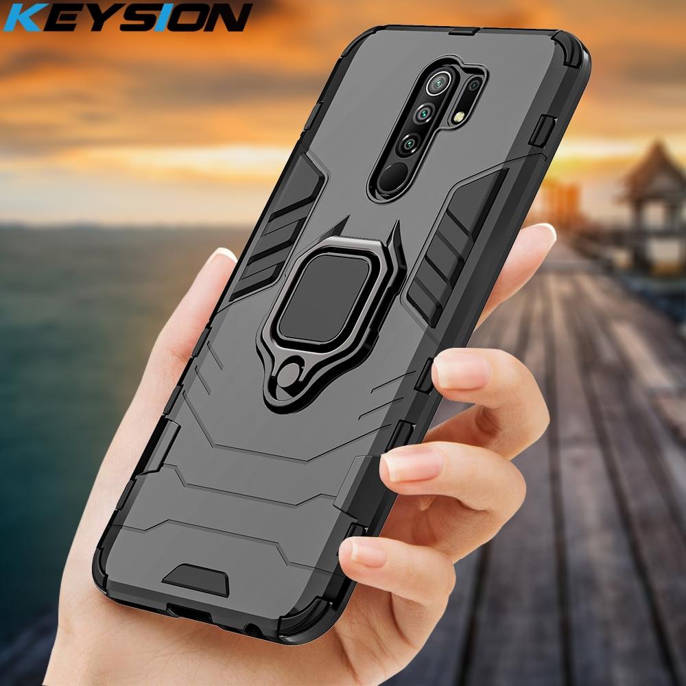 KEYSION caja a prueba de golpes para Redmi 9 K20 Pro Nota 9S 9 Pro Max 7 7a 6 8 Pro de la cubierta del teléfono para Xiaomi Mi 9T 9SE CC9e Mi 8 lite A2 A3